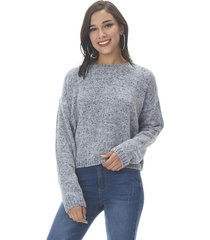 sweater chenille crop gris corona