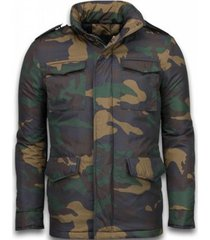 donsjas enos winterjassen - winterjas kort - camouflage jack -