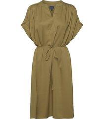 d1. fluid dress knälång klänning grön gant