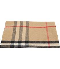 burberry check motif scarf