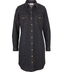 abito di jeans elasticizzato a maniche lunghe (nero) - john baner jeanswear