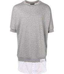3.1 phillip lim shirttail sweatshirt - grey