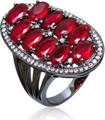 anel le diamond pedra jade vermelha
