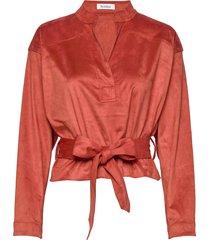 yoko blouse lange mouwen rood rodebjer