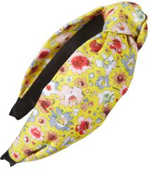 tasha knotted floral headband in yellow multi at nordstrom