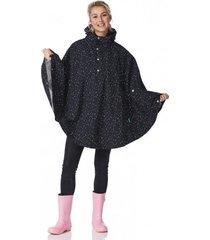 happyrainydays poncho poncho cape bonita dot black off white