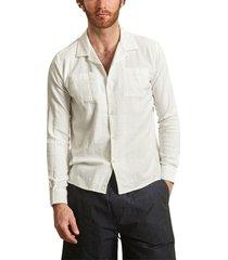 wave linen and cotton shirt