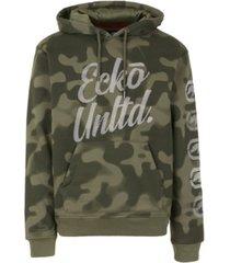 ecko unltd men's 2 color camo hoodie with vert rhino repeat