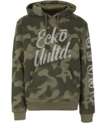 ecko unltd men's 2 color camo hoodie with vert rhino repeat