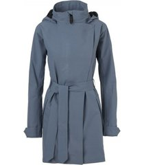 agu regenjas women urban outdoor trench coat dusty blue-xxl