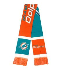 forever collectibles miami dolphins colorblocked cropped big logo scarf