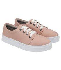 tênis sapatênis feminino casual solado borracha confortável rosa 40