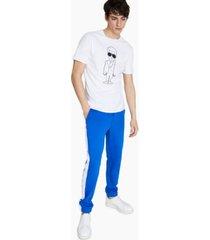 karl lagerfeld paris men's slim-fit karl character with sunglasses print t-shirt