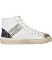 scarpe sneakers alte donna in pelle h342