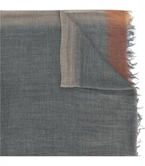 fashion clinic timeless frayed edge scarf - grey