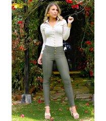 blusa formal manga larga outfit 2025 para mujer beige