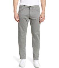 men's mavi jeans zach straight leg twill pants, size 36 x 30 - grey