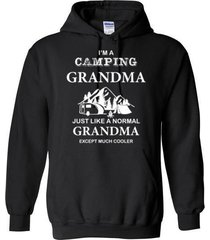i'm a camping grandma blend hoodie