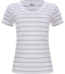 camiseta mujer a rayas color gris, talla xs