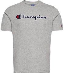 crewneck t-shirt t-shirts short-sleeved grå champion