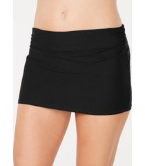 dkny solid swim skirt, created for macy's women's swimsuit