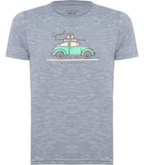 camiseta aleatory estampada travel masculina