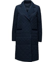 fleet06 gevoerde lange jas blauw ilse jacobsen