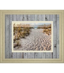 "classy art path to the beach by michael cahill framed print wall art - 34"" x 40"""