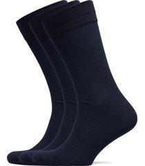 slh3-pack cotton sock noos underwear socks regular socks blå selected homme