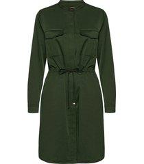 amy twill dress kort klänning grön mos mosh