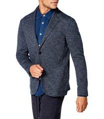 men's good man brand slim fit textured sport coat, size x-large - blue