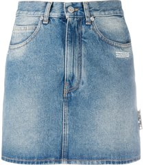 off-white high waist denim skirt - blue