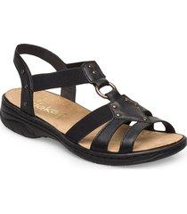 64574-00 shoes summer shoes flat sandals svart rieker