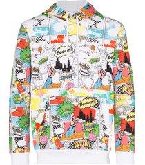 comme des garçons shirt comic book print hoodie - white