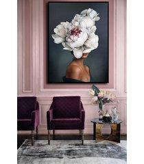 kobieta kwiat - obraz lub plakat