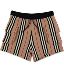 nala icon stripe sweat shorts