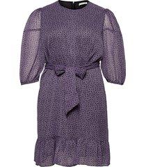 lili knälång klänning lila violeta by mango