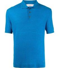 pringle of scotland regular-fit merino wool polo shirt - blue