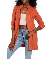 women's vero moda katrine brushed jacket, size large - brown