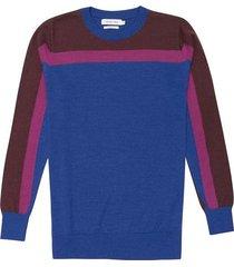 suéter cuello redondo bloques merino regular fit para hombre 74433