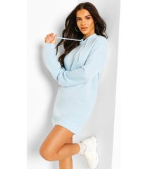 hooded sweat dress, pastel blue