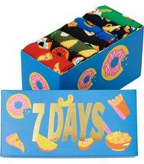 strumpor 7-pack 7 days of food socks gift set