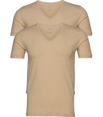 shirt 1/2 t-shirts short-sleeved beige schiesser