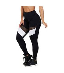calça legging hardcore line magic black-white