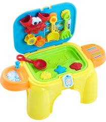 banquinho infantil belfix kit praia colorido