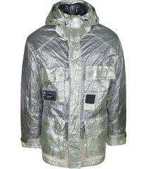 c.p. company high-neck metallic raincoat