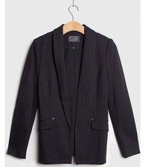 blazer ash con tapeta negro - calce ajustado