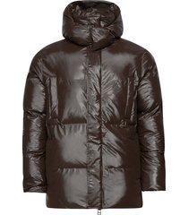 puffer hooded coat gevoerd jack bruin rains