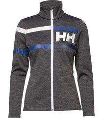 w graphic fleece jacket sweat-shirt tröja grå helly hansen