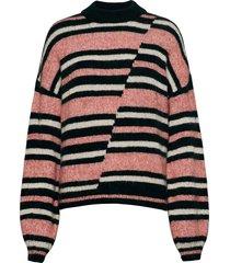 chunky mismatched stripe crew stickad tröja multi/mönstrad superdry